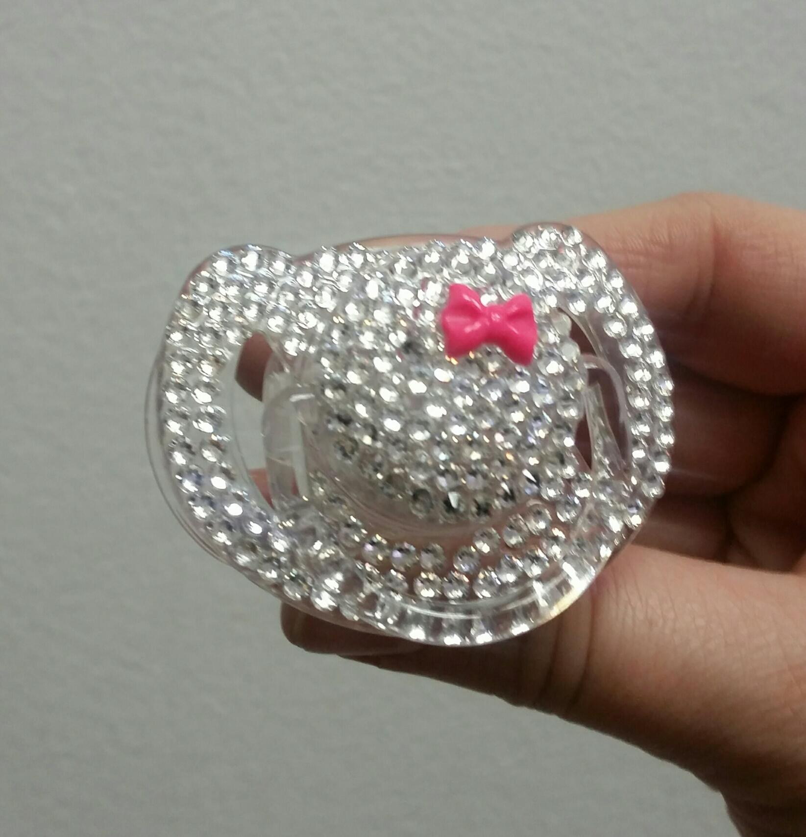 4958f54227cd Jewel swarovski crystal pacifier - hot pink