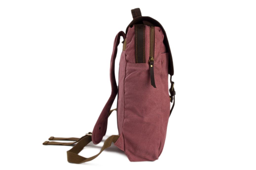 edec8d954 Leather Canvas Backpack Laptop Bag School Bag Travel Bag Backpack ...