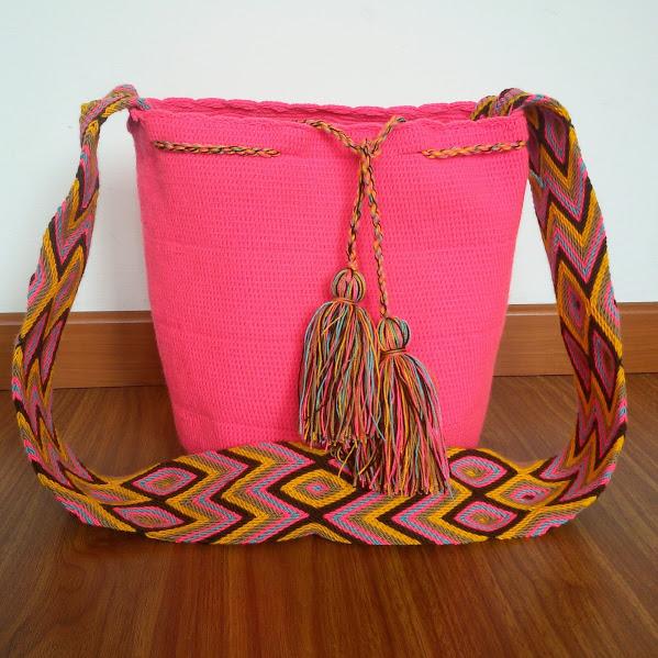 7204097c357 Pink Wayuu Mochila Bag on Storenvy
