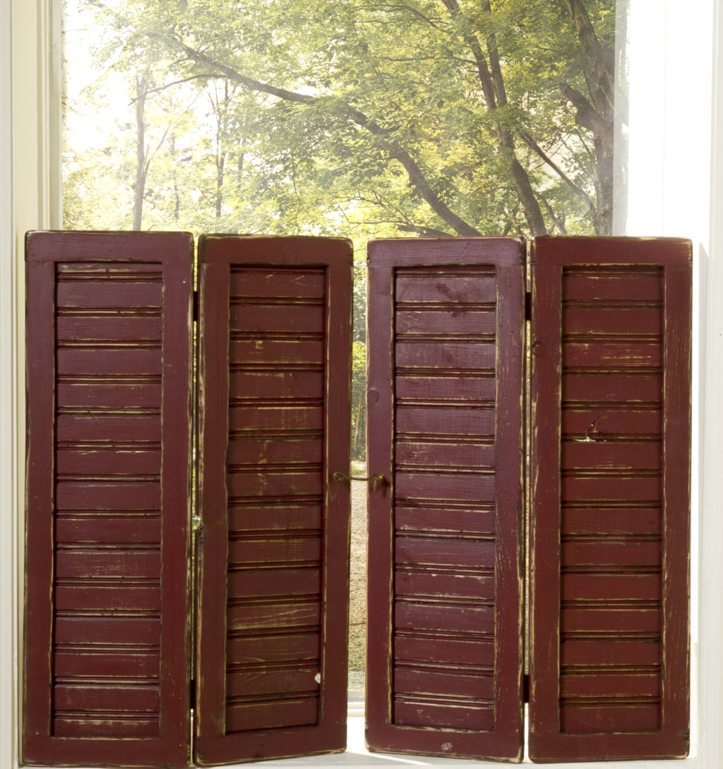 New Style Primitive Beadboard Shutters Sold By Sa Shutter Mill