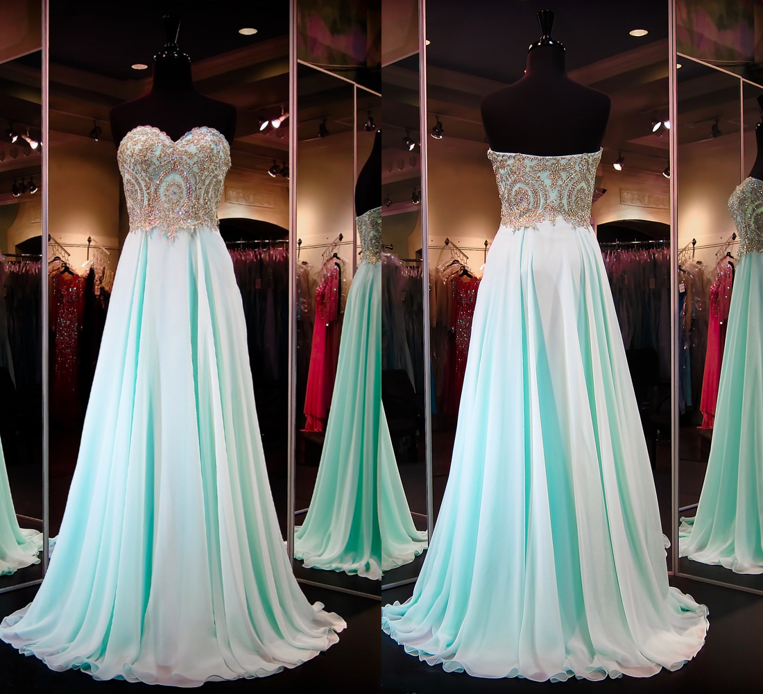 Sweetheart Custom Made A-Line Charming Prom Dress,Formal Dresses ...