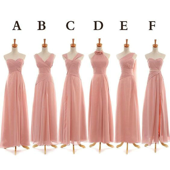 a64f17c242 Blush Bridesmaid Dresses Floor Length pst409 · BBDressing · Online ...