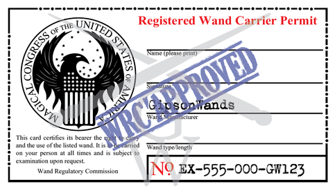 Registered Wand Carrier Permit · GipsonWands · Online ...