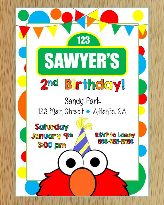 Elmo Birthday Invitation On Storenvy