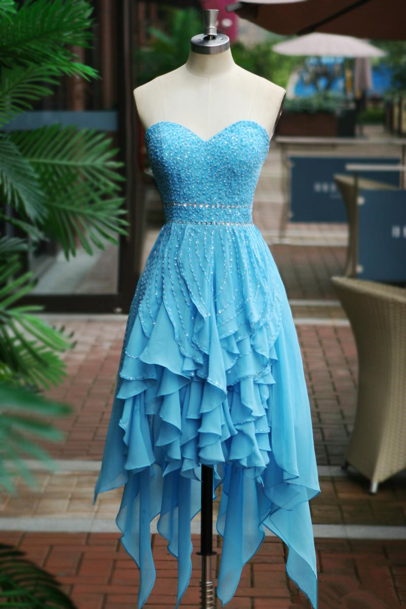 581ca60c852 Short Prom Dress Party Dress With Beadings on Storenvy