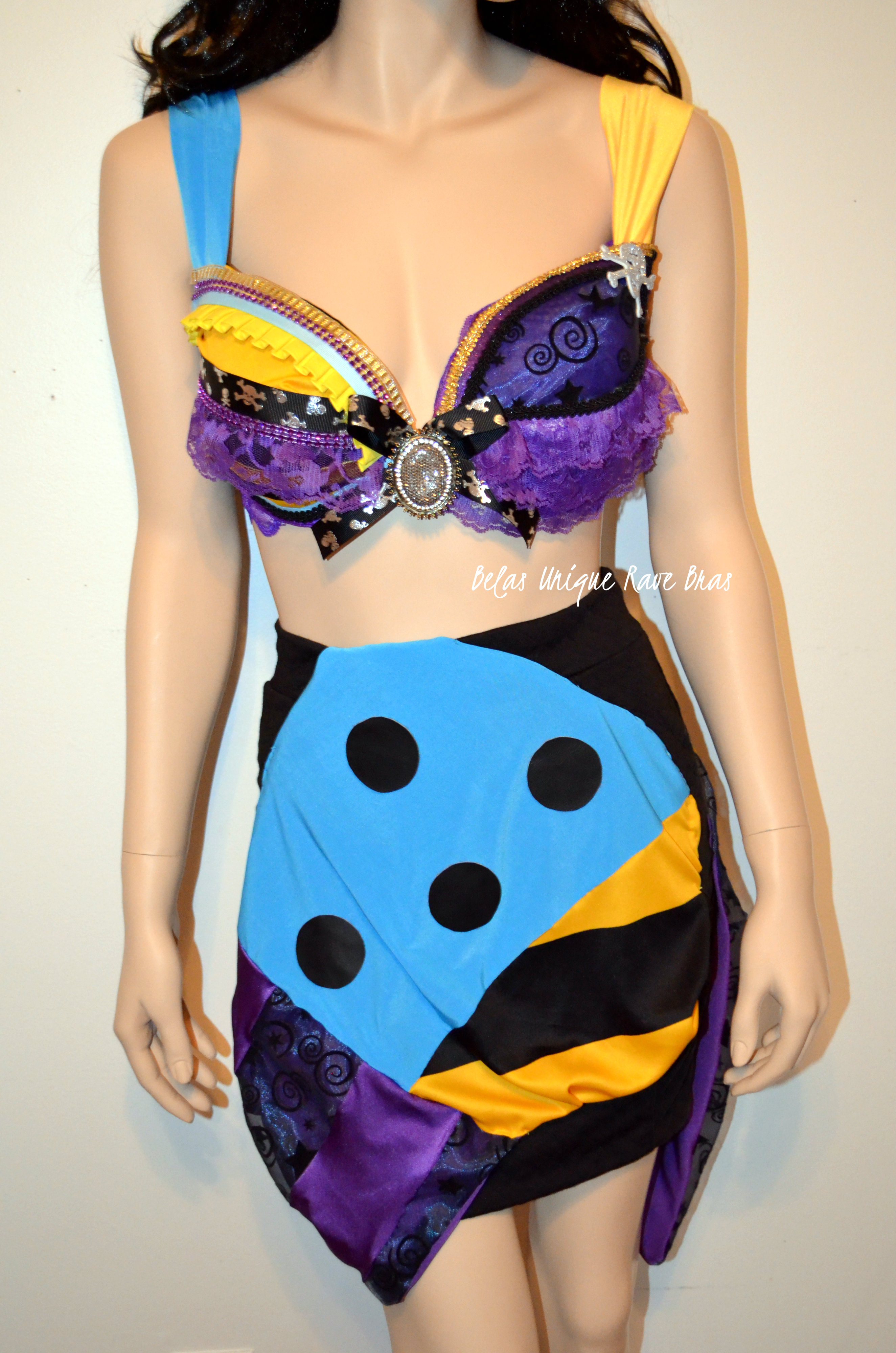 ddf2442d93a Sally Nightmare Before Christmas Costume Cosplay Dance Rave Bra Halloween  Burlesque Show Girl