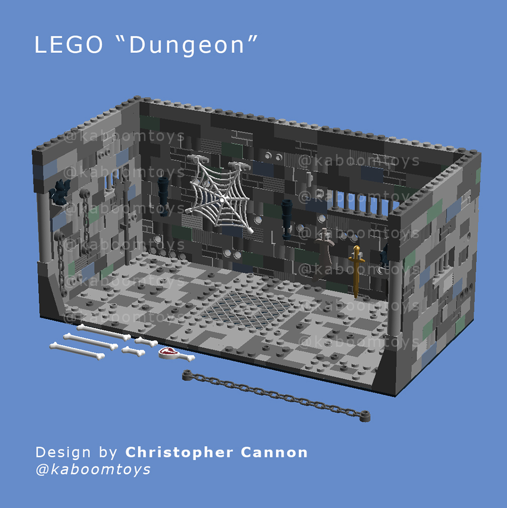 Lego Dungeon Diorama Blueprint Pdf Instructions Kaboom Toys