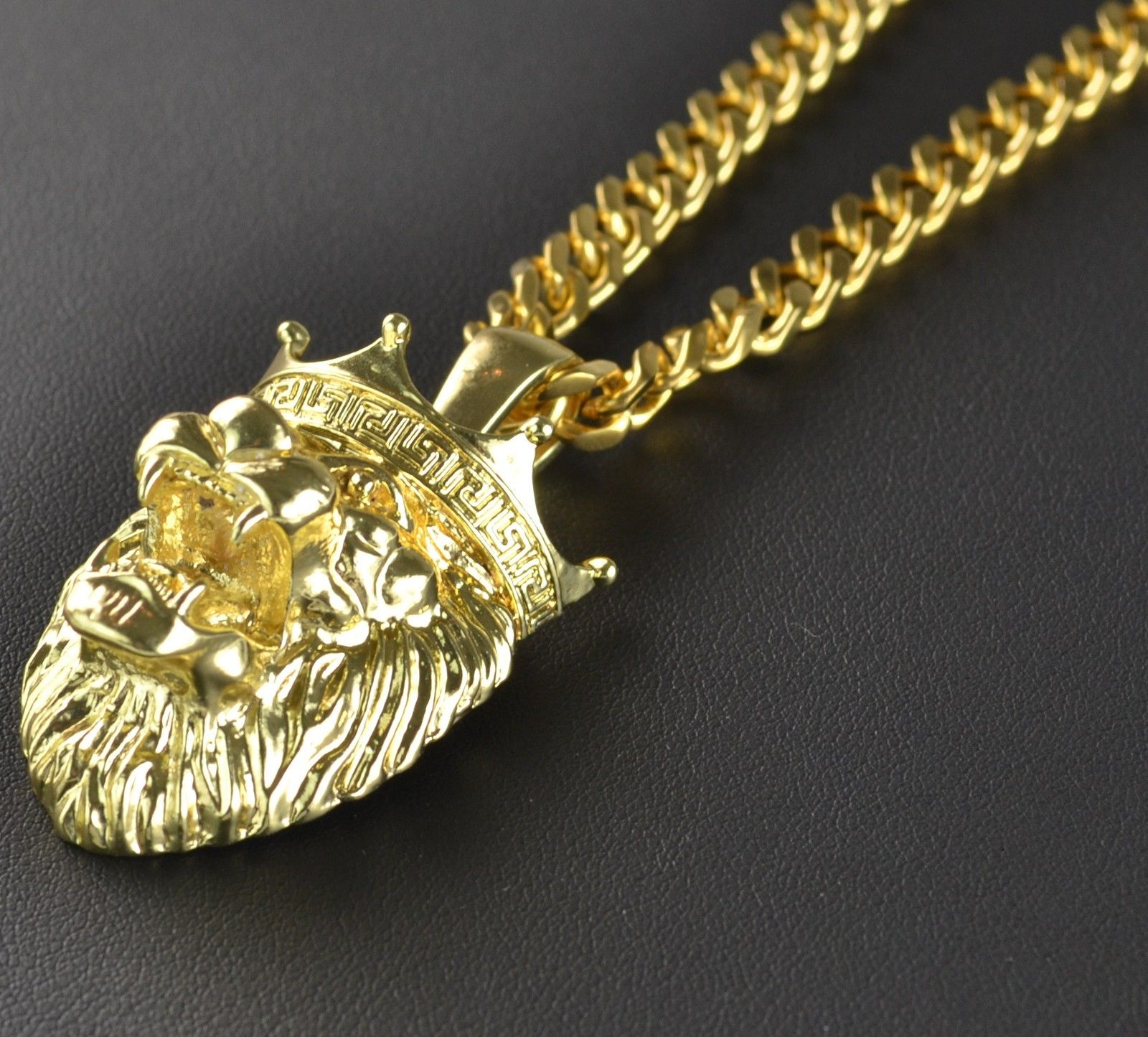 versus versace necklace head disk lion chain pendant silver garment quarter