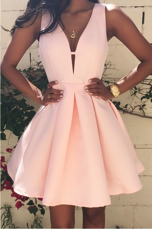 06722ecb4fc3 Simple A-line short prom dresses