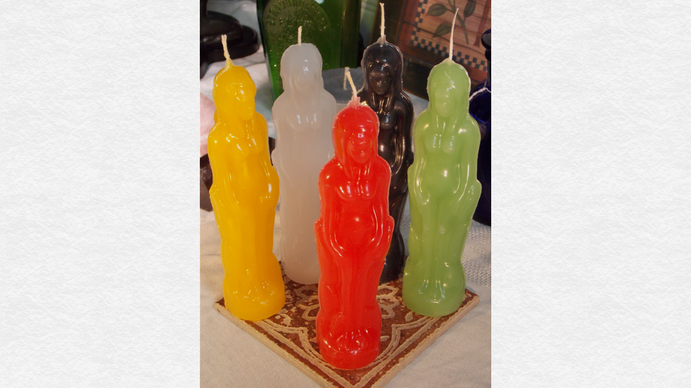 Female Human Figure Candle Beeswax Blend, goddess figure candle, candle  magick, female candles sold by Figure Candles