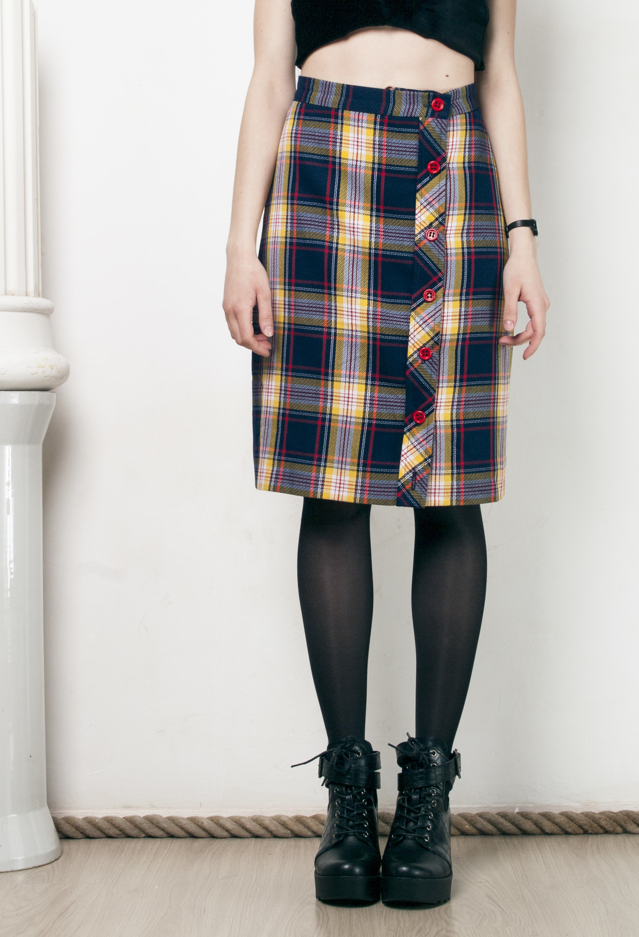 5c995fd40 50s vintage plaid pencil skirt · Pop Sick · Online Store Powered by ...