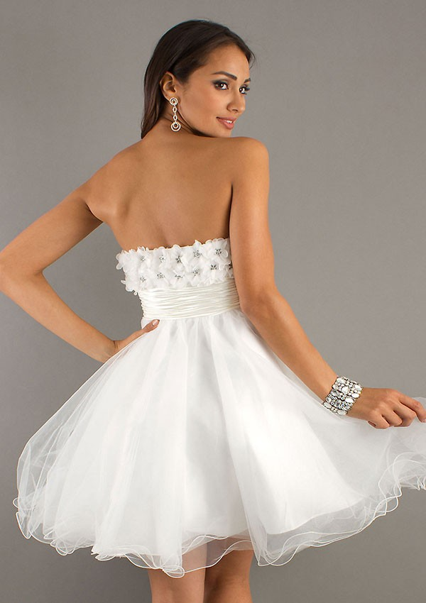 e881b51349a LH17 Cheap White Tulle Short Homecoming Dresses