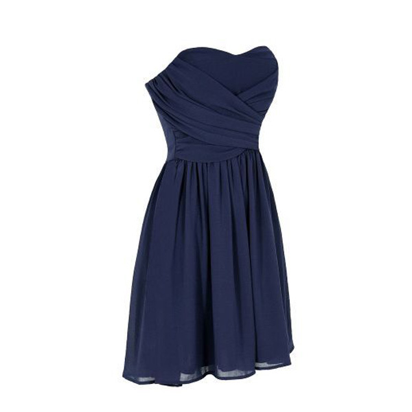 Navy Blue Short Simple Bridesmaid Dress Cheap Bridesmaid Dress For Wedding Fs137 From Romanticdress