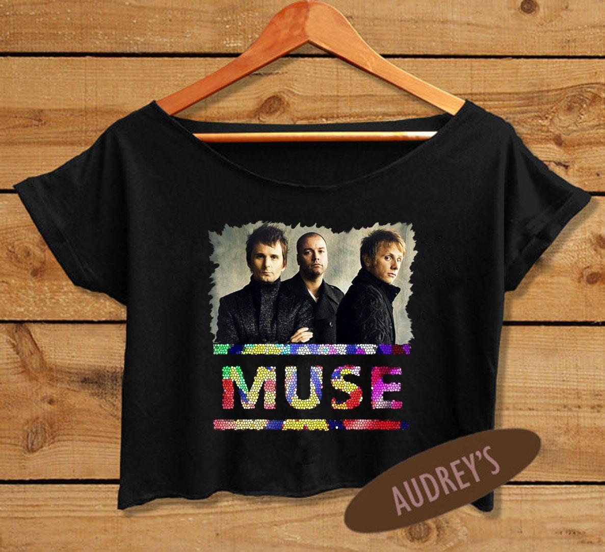 b8f3aa4261d9e Women s Crop Tee English Band Muse T-shirt Band Crop Top ...