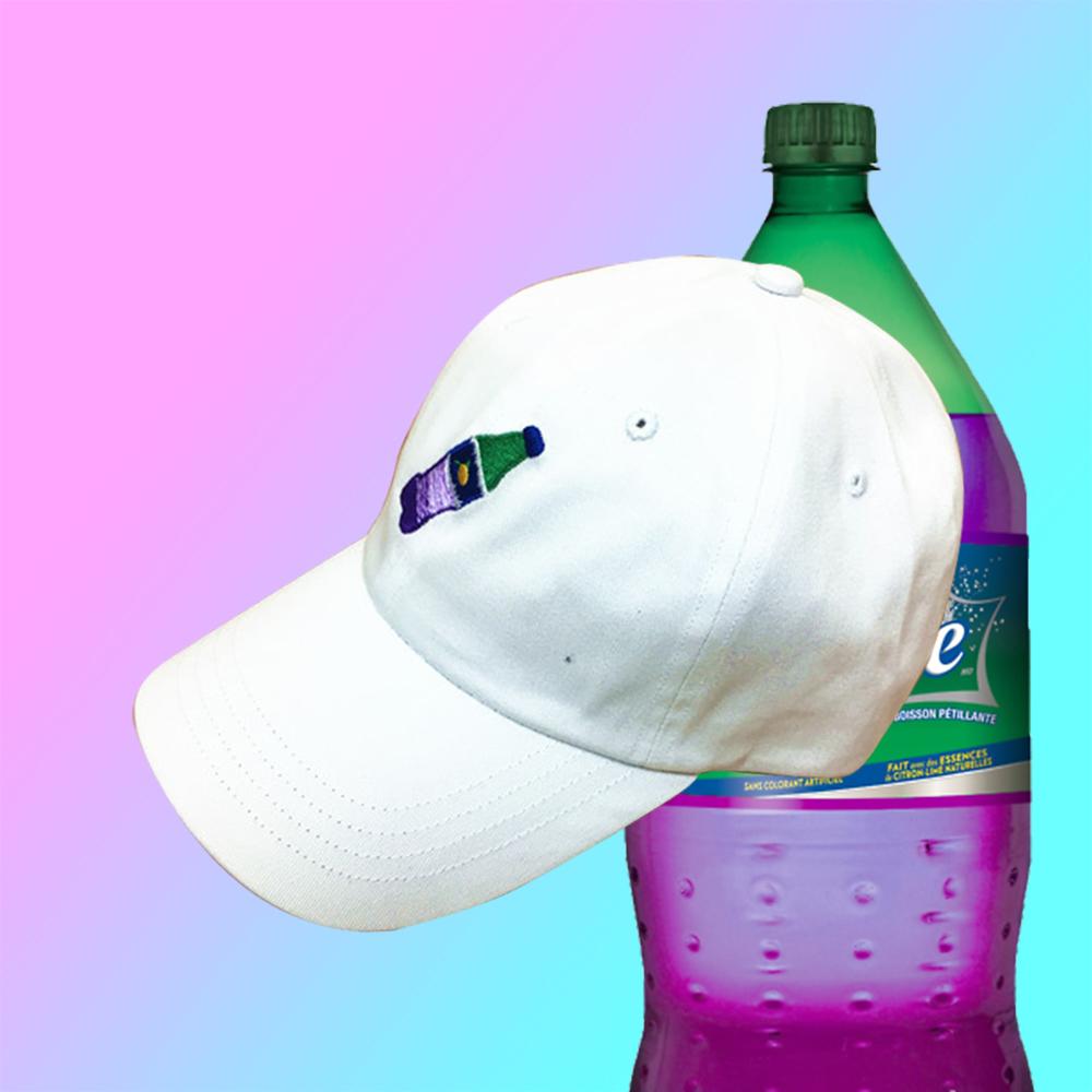 29a96a1ddbf VAPORWAVE PURPLE SPRITE DRINK BASEBALL CAP IN WHITE · soldrelax ...