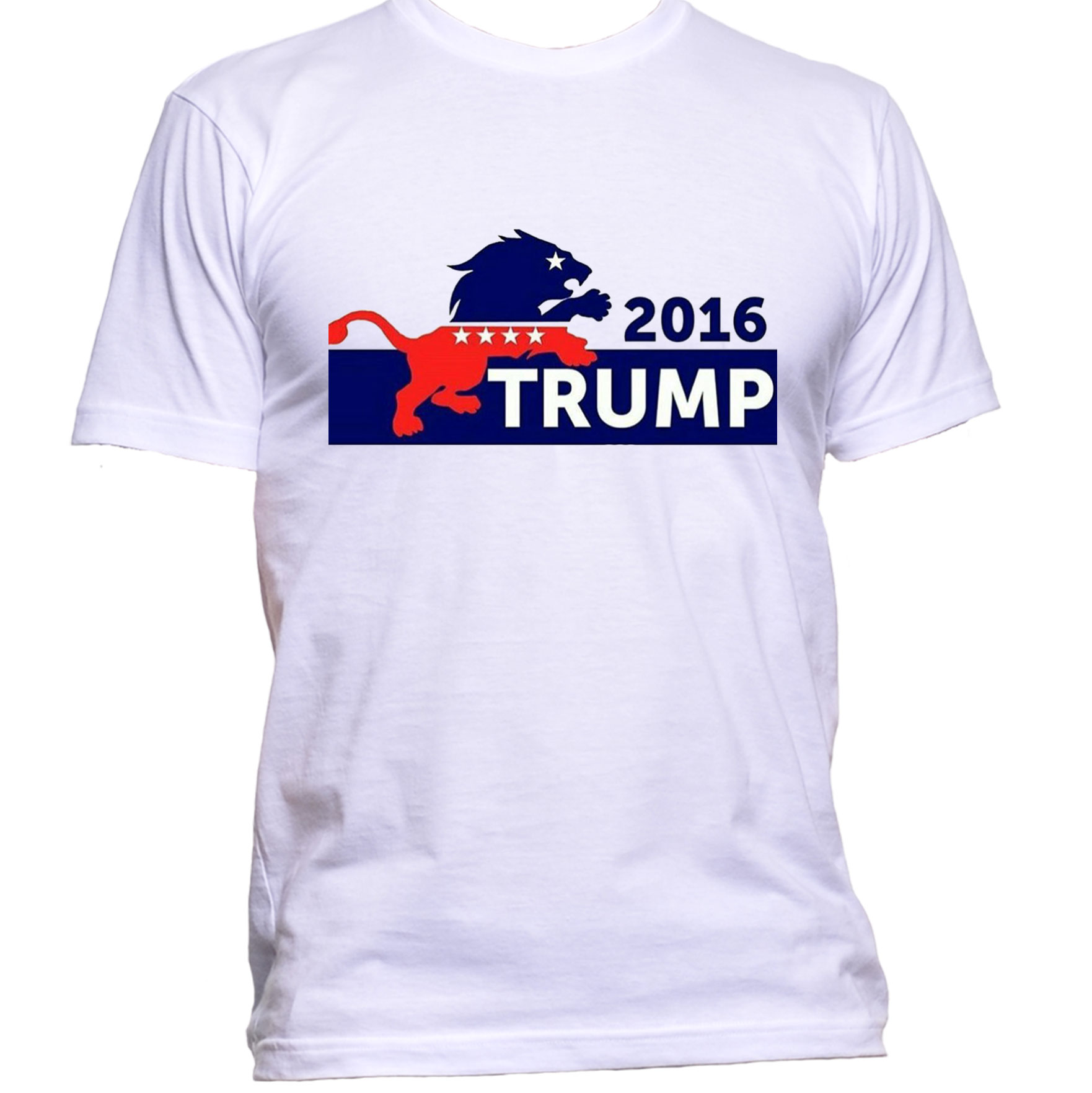 9a251516 Trump lion white tshirt gullprint small