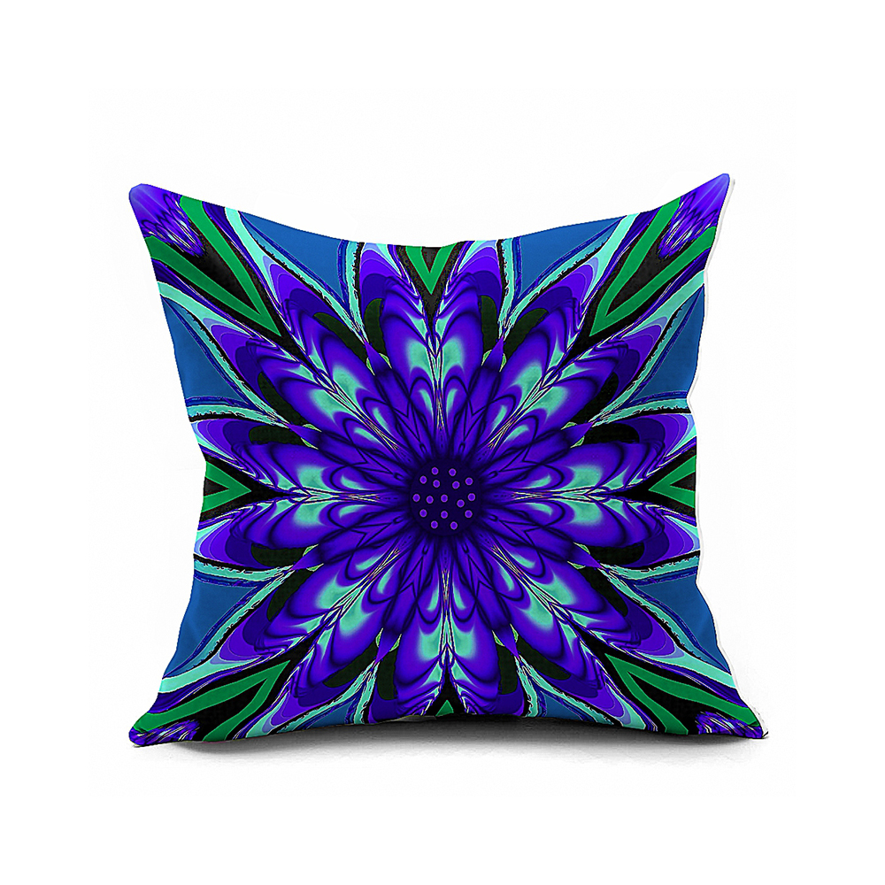 Creative Flowers Cotton Linen Decorative Sofa Cushion Covers Invisible Zipper Throw Pillow Cover From Fashiondesign