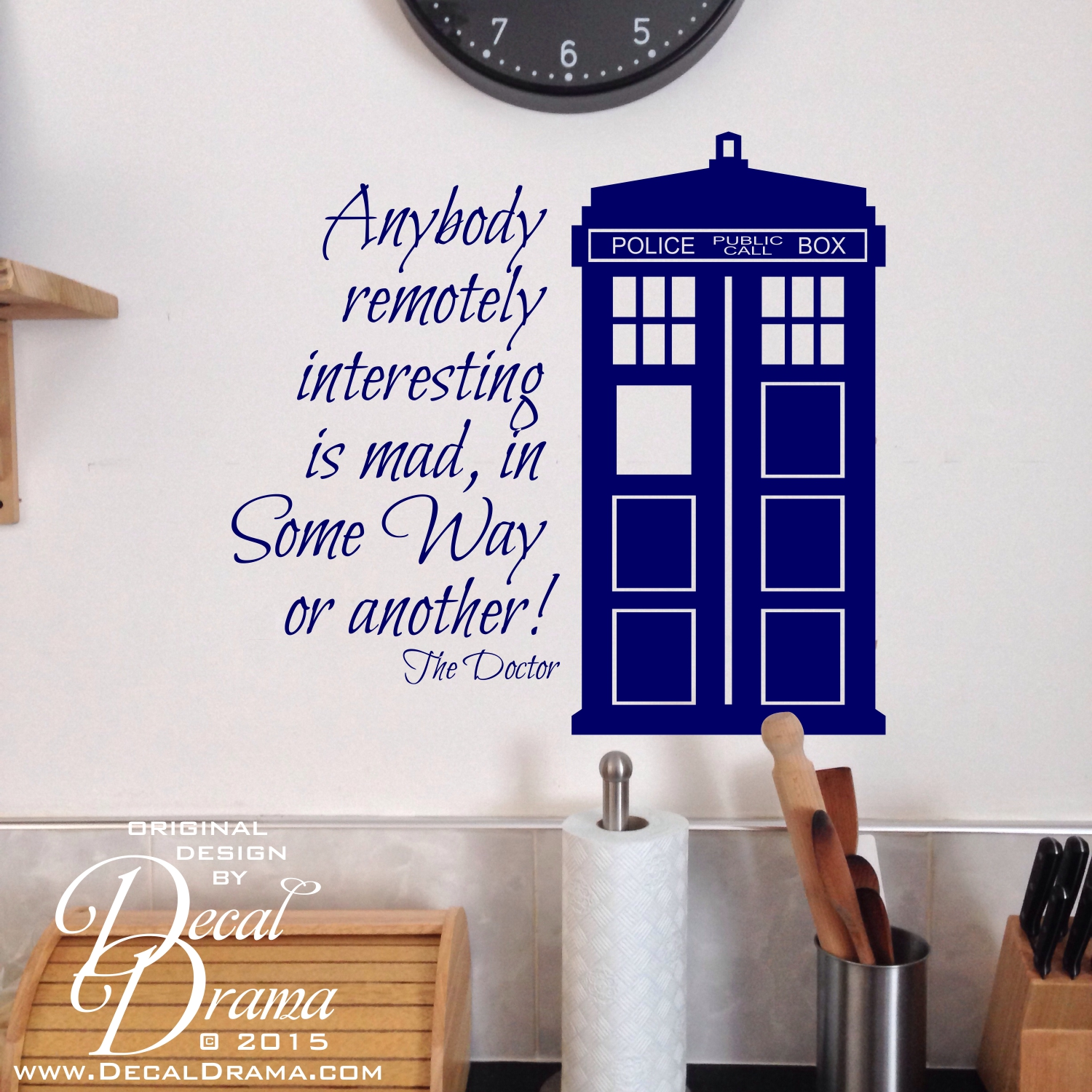 Exceptionnel Anybody Remotely Interesting Is MAD, In Some Way Or Another! Dr. Who, TARDIS,  Vinyl Wall Decal On Storenvy