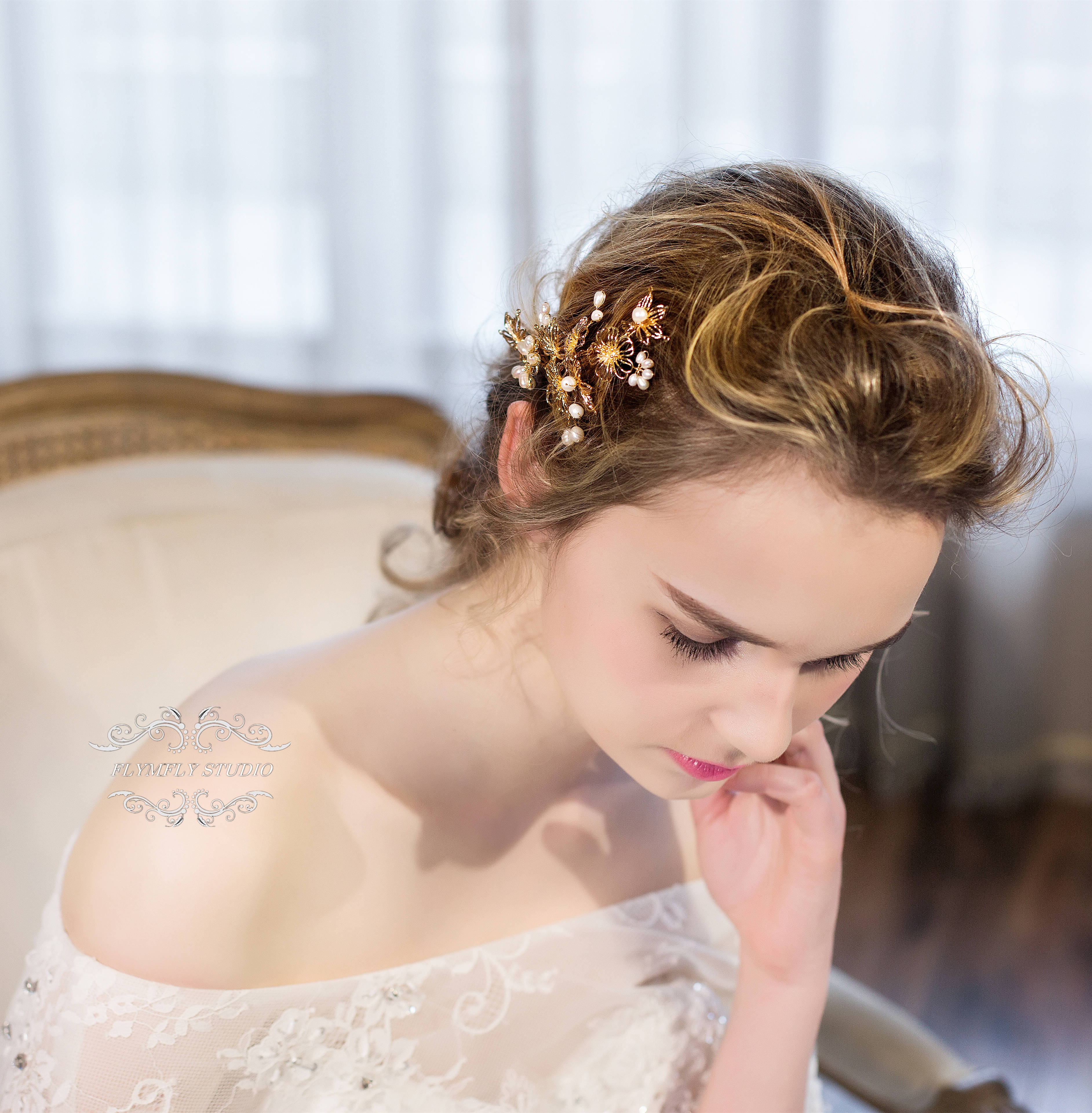 handmade wedding hair accessories, bridal hair pins, formal hair