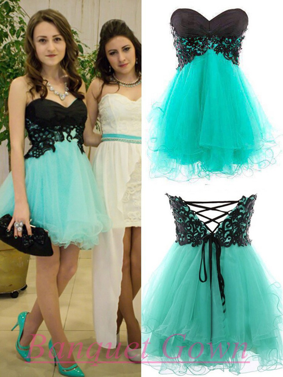 Turquoise Prom Gown,Lovely Homecoming Dresses,Simple Prom Dress ...