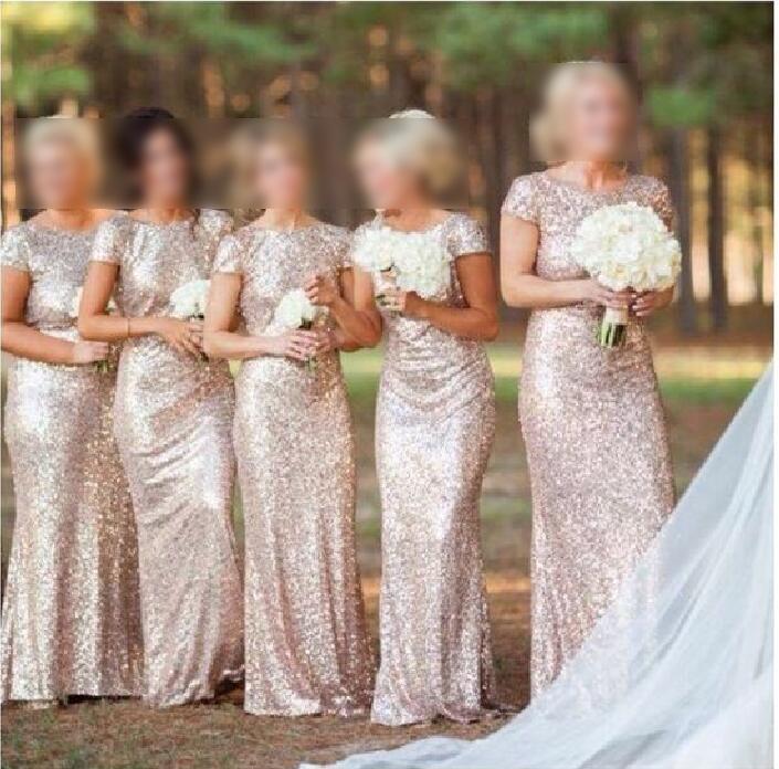 ac44105448c Sequin bridesmaid dress