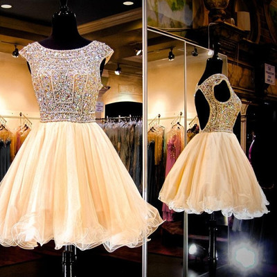 ec151f6a4d Sparkly Short Beading Homecoming Dresses