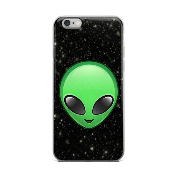 alien emoji iPhone case from vintage retro