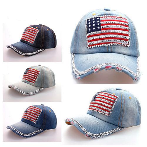 ffd362b5345 Retro Denim American Flag Hat on Storenvy