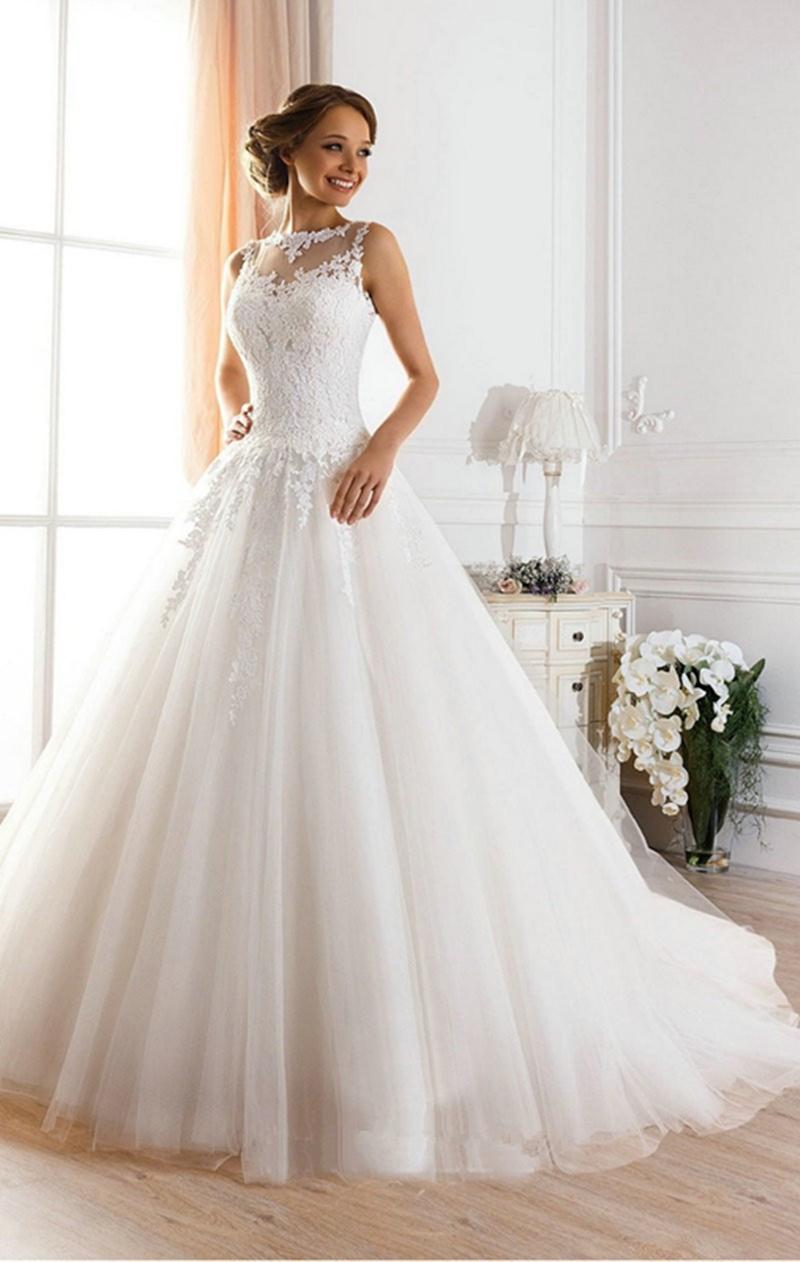 Wedding Dress Bride Dress White Bridal Dresses Ivory Wedding Dress ...
