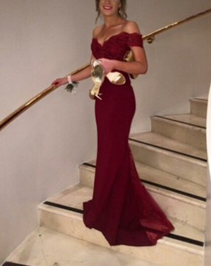 Solo Dress Real Made Off the shoulder Prom Dress, Charming Formal ...