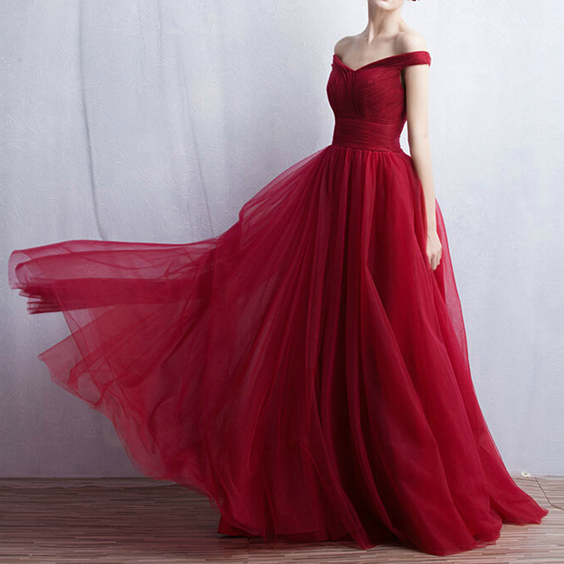 Red Evening Dress Prom Dress Bridal Gown PD61 on Storenvy