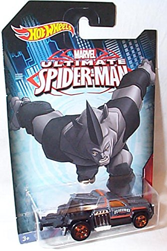 hotwheels marvel ultimate spiderman repo duty rhino car 1 64 scale model