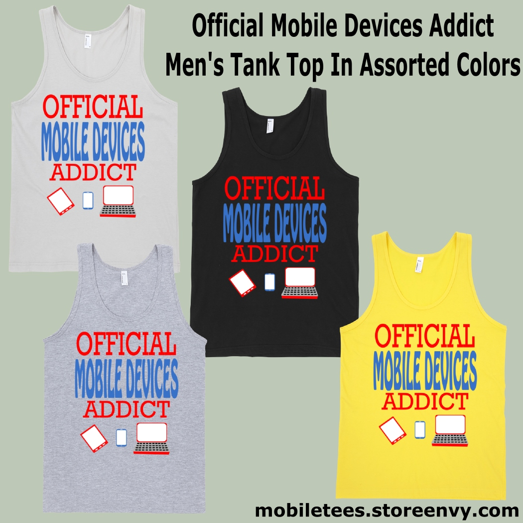 c36514e4b300b ... Official Mobile Devices Addict - Unisex New Silver Tank Top - Thumbnail  2