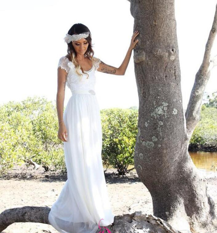 Summer Wedding Dress with Sleeves