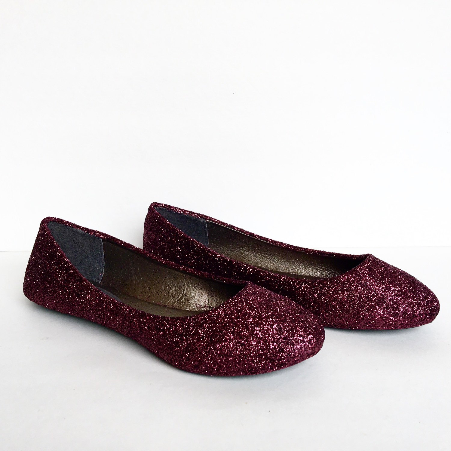 063ac59bf68 Burgundy Flats - Dark Red Glitter Shoes - Maroon Ballet Flats - Sparkly Wedding  Shoes - Red Prom Shoes - Glitzy Flats - Wine Red Slip Ons on Storenvy