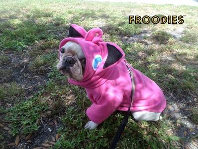 French Bulldog Boston Terrier Pug Dog Froodies Hoodies Halloween Costume Cosplay Pokemon Go Jigglypuff Fleece Jacket Sweatshirt Coat