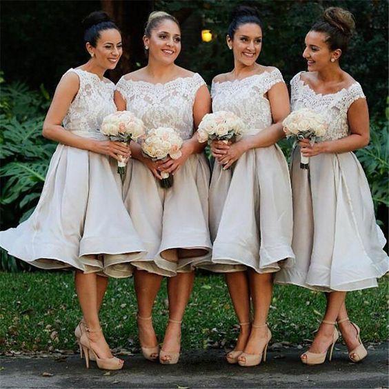 fd17e4db5b lace short bridesmaid dresses, off shoulder bridesmaid dresses, grey  bridesmaid dresses, custom bridesmaid dress, custom bridesmaid dresses,  17058 ...