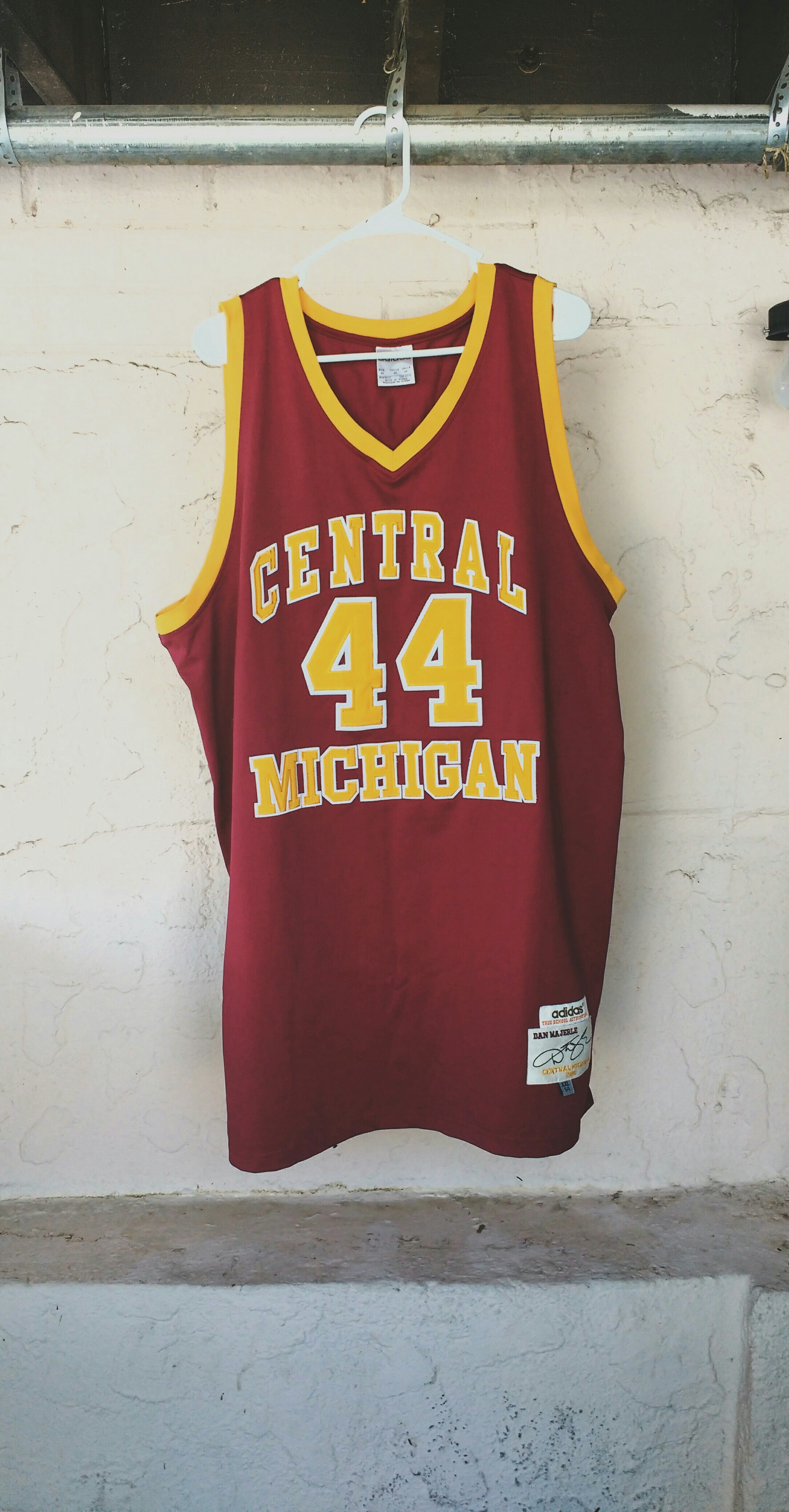 c8e998e38a0 Vintage Adidas Dan Majerle Authentic Central Michigan Jersey Size 54 ...