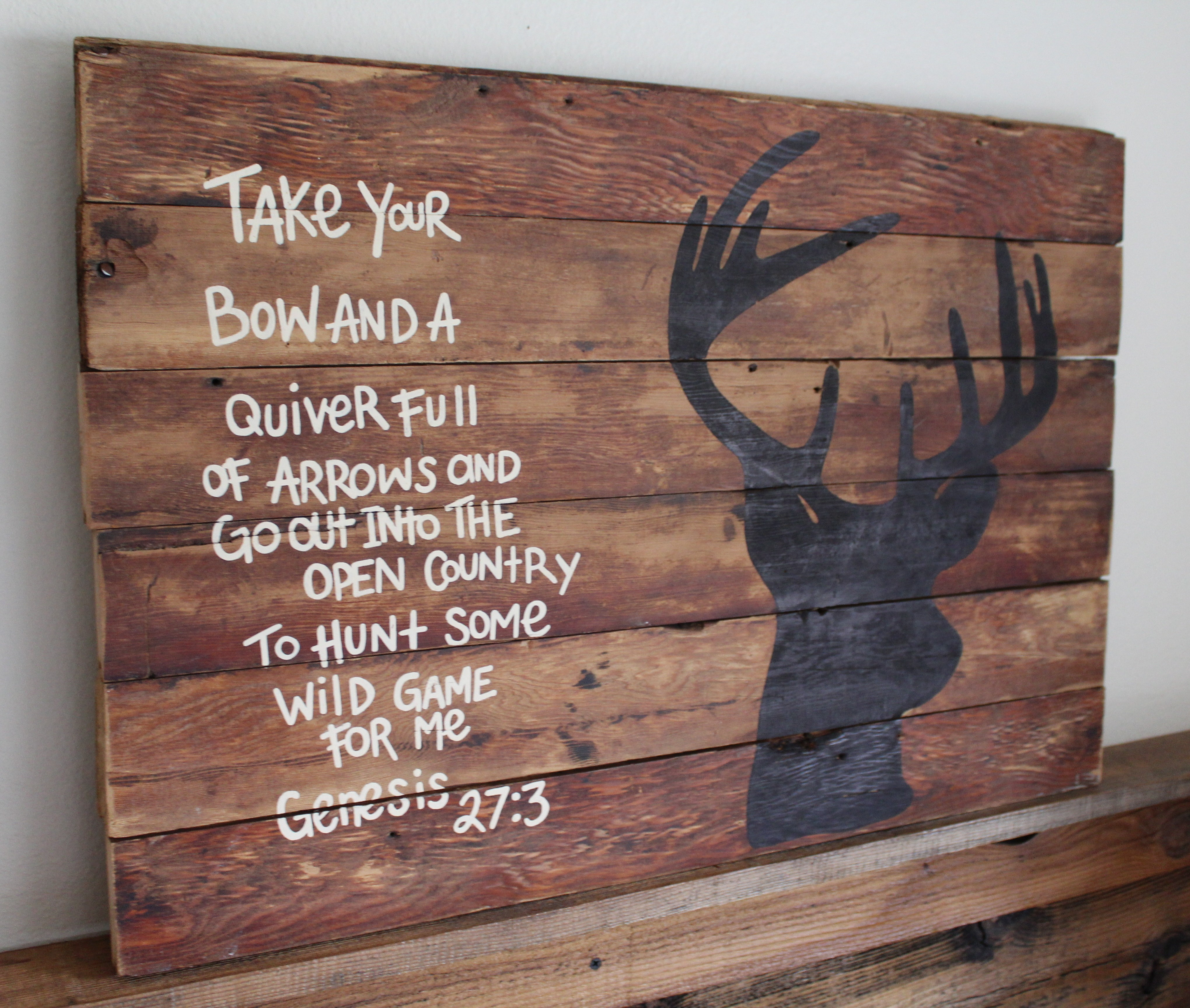 Antler Cross Genesis 27:3 Religous Hunting Decal