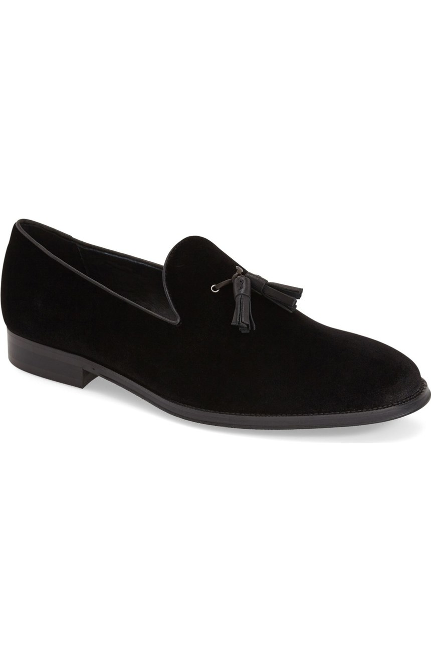 091df69e48fa2 Handmade men black suede tassels loafer, Mens black casual suede shoes from  Rangoli Collection