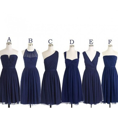 9905db36bcf7 Short Navy bridesmaid dresses, cheap bridesmaid dresses, chiffon bridesmaid  dresses,PD21006