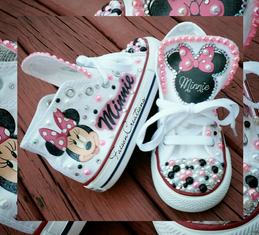 03f7e3bc6b42f Toddler Custom Minnie Mouse Converse