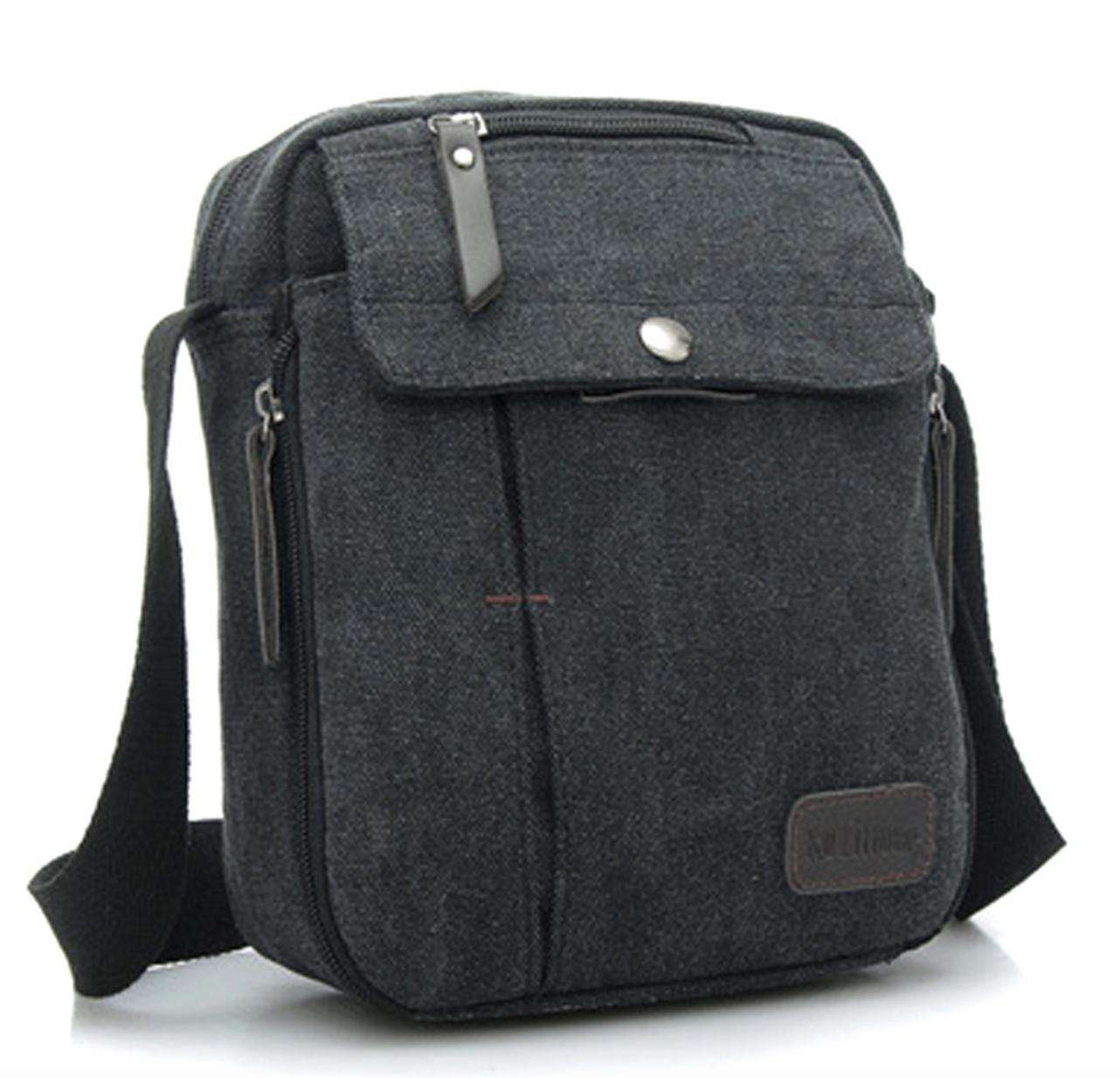 9c2f3aa064 Black Vintage Canvas Travel Satchel Bag Beautiful Stylish Shoulder ...