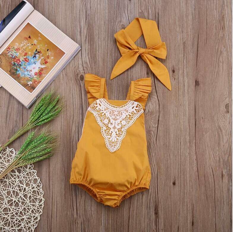 de602a48fbe Zara Lace Romper and Matchy HeadWrap · Sweet Sophia Boutique ...