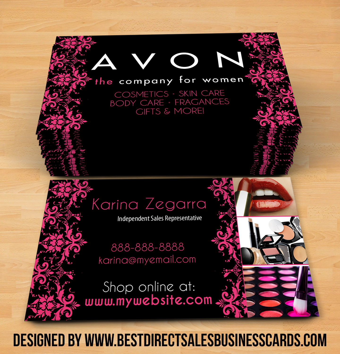 Beautiful Avon Business Cards style 5 · KZ Creative Services · Online Store  MX69