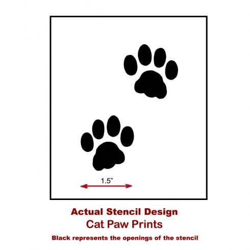 Cat Paw Print Wall Art Stencil - Easy to Use - Better than Decals from  Cutting Edge Stencils