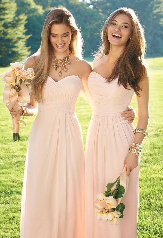 Bridesmaid Dress Pink Sweetheart Chiffon Long Bridesmaid Dresses on Storenvy 7a5b213de38b