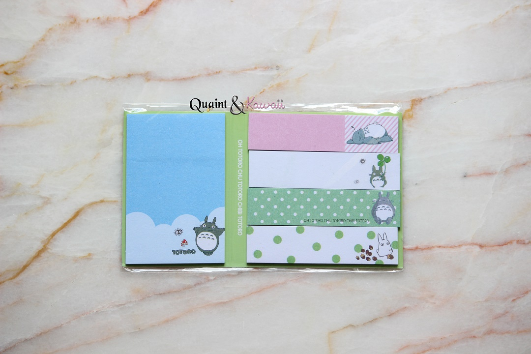 image relating to Cute Planners and Organizers named Kawaii Totoro Sticky Notes Pad - Lovely Stationery For Planners/Organizers marketed through Quaint Kawaii