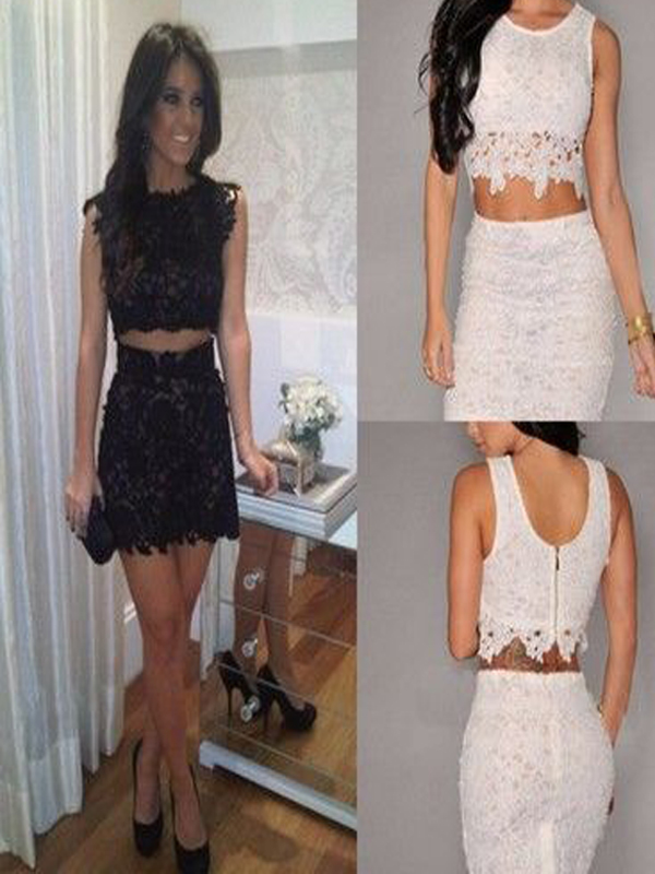0a5bb5dece5 2016 lace homecoming dress,two pieces homecoming dress,tight homecoming  dress,freshman dress,cheap homecoming dressPD2110303 from BellaBridal