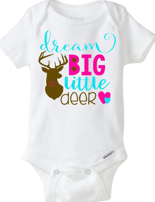 69a103057 Baby Onesie Dream Big Little Deer · CryBabyFashion · Online Store ...